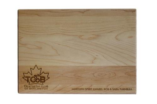 Custom Engraved Cutting Boards - Personalized Cutting Boards - Triathlon Club of Burlington Award Board