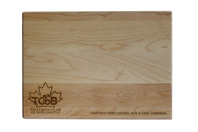 Custom Engraved Cutting Boards - Personalized Cutting Boards - Triathlon Club of Burlington Award Board