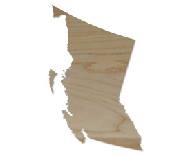 Wholesale Province Shaped Cutting Boards - British Columbia