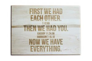 Custom Engraved Cutting Boards - Personalized Cutting Boards - Anniversary Gift Cutting Board