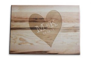 Custom Engraved Cutting Boards - Personalized Cutting Boards - Heart Cutting Board