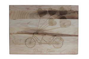 Custom Engraved Cutting Boards - Personalized Cutting Boards - Heart Balloons Cutting Board