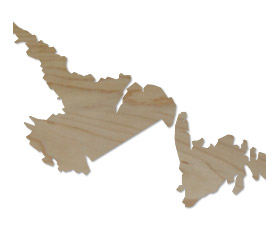 Wholesale Province Shaped Cutting Boards - New Foundland