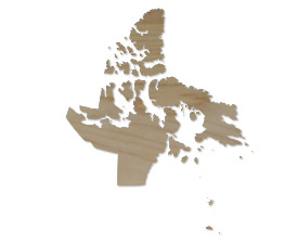 Wholesale Province Shaped Cutting Boards - Nunavut