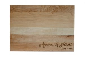 Custom Engraved Cutting Boards - Personalized Cutting Boards - Script Names Cutting Board