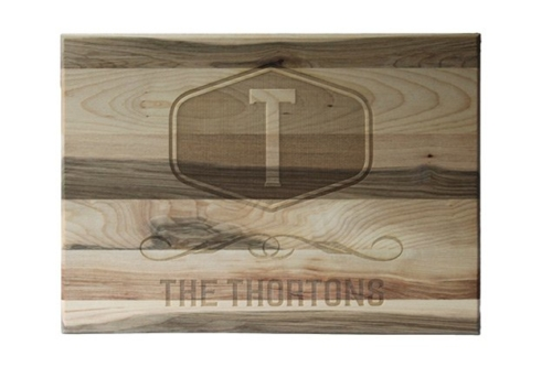 Custom Engraved Cutting Boards - Personalized Cutting Boards - Family Crest Cutting Board
