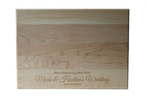 Custom Engraved Cutting Boards - Personalized Cutting Boards - Wedding Gift Cutting Board