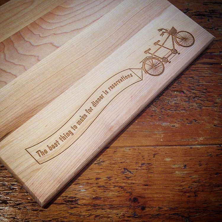 Custom Cutting Boards Dinner Reservations