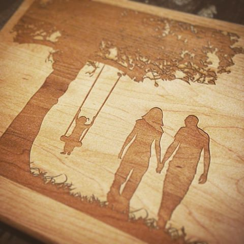 Custom Cutting Boards Happy Family