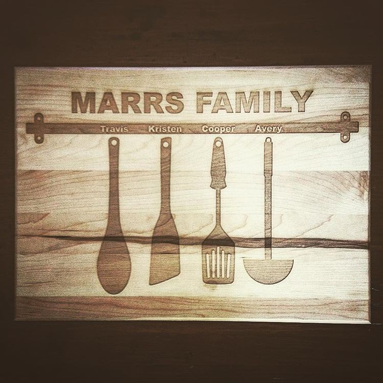 Custom Cutting Boards Kitchen Family