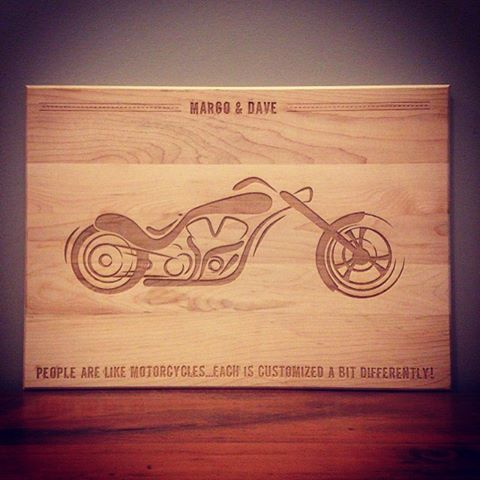 Custom Cutting Boards Motorcycles