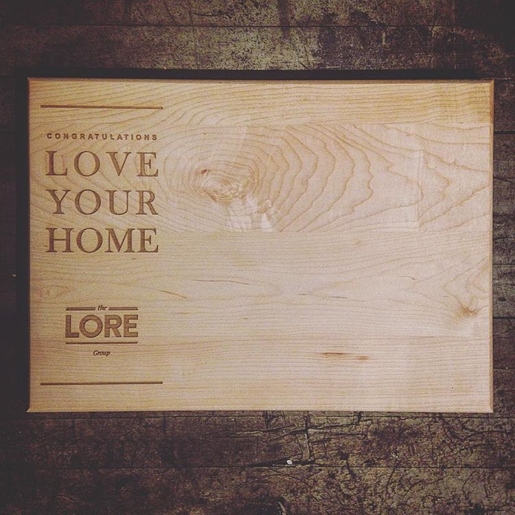 Custom Cutting Boards Real Estate Agent - Lore Group