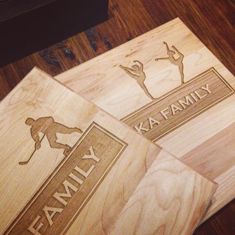 Custom Cutting Boards Sports Family