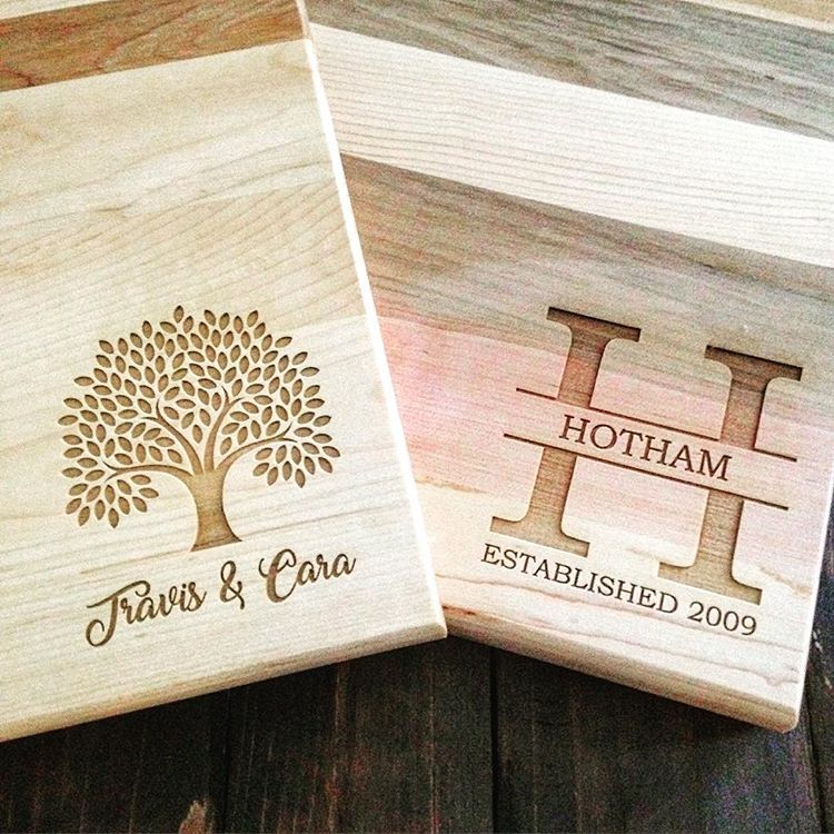 Custom Cutting Boards Tree and Letter