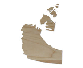 Wholesale Province Shaped Cutting Boards - Northwest Territories