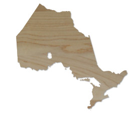 Wholesale Province Shaped Cutting Boards - Ontario