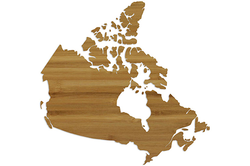 Wholesale Province Shaped Cutting Boards - Canada