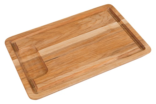 "Wholesale Cutting Board 8"" x 12"" Angled & Grooved with Well"