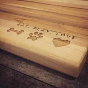 Custom Engraved Cutting Board Eat Play Love