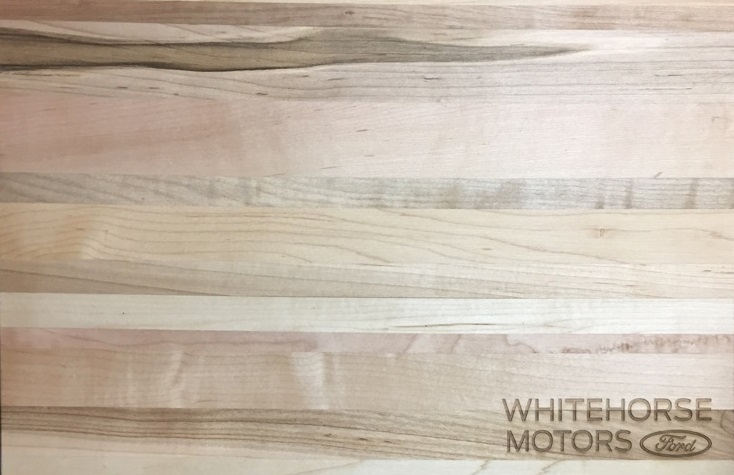 Custom_Engraved_Cutting_Board_Whitehorse_Motors_Ford