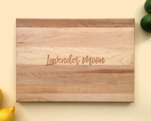 Personalized and Engraved Wood Cutting Board Name