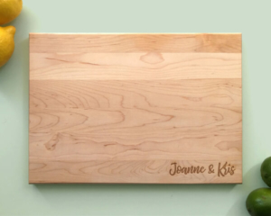 Personalized and Engraved Wood Cutting Board Names