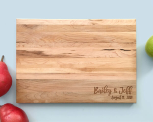 Personalized and Engraved Wood Cutting Board Name and Kitchen